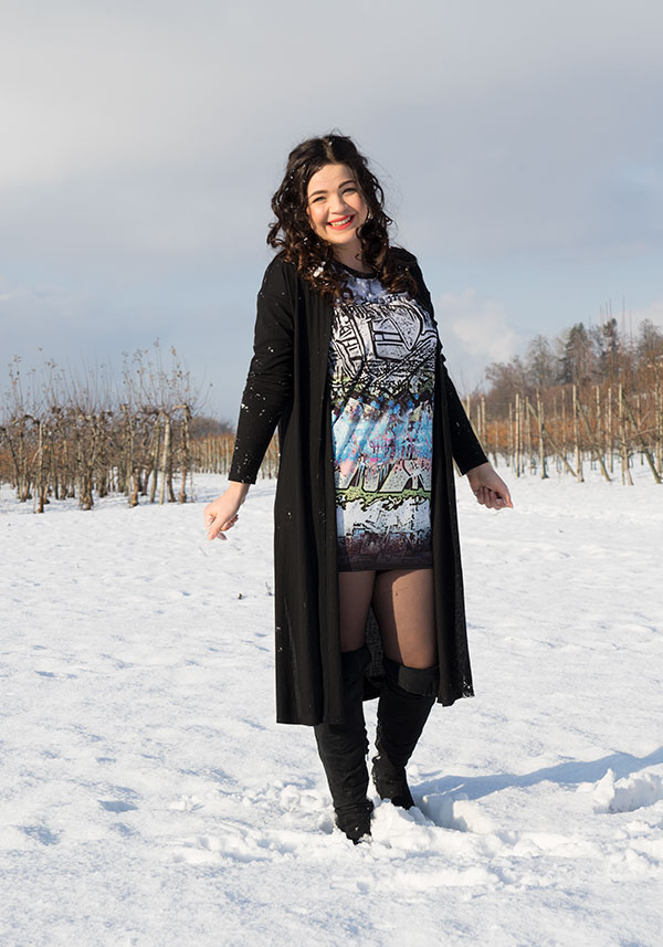 Jerseykleid winter